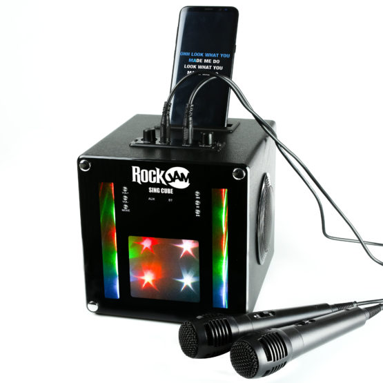 SC01 Bluetooth Karaoke Machine For Kids with two mics